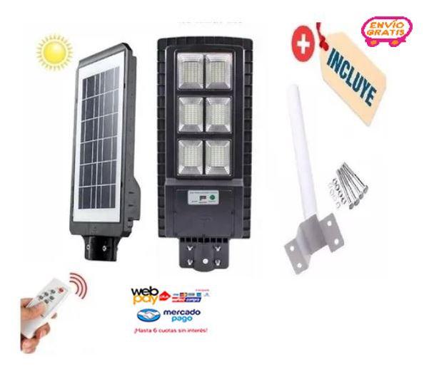 Foco Led Solar 200w + Soporte De Instalación + Control Remot