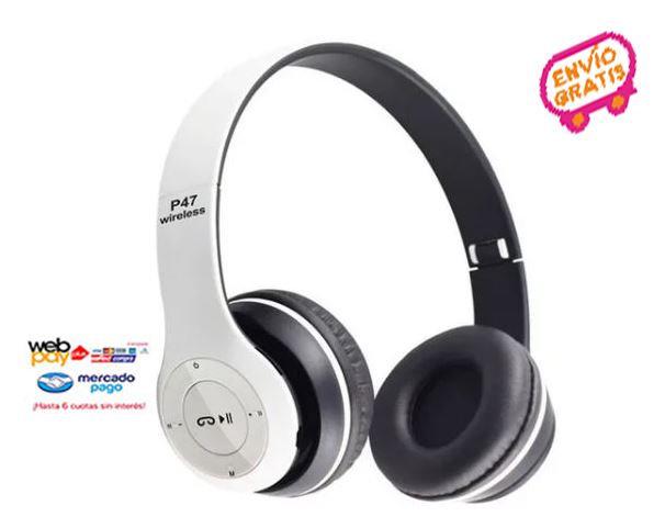 Pack 2 Audifonos Bluetooth P47 Stereo Radio Mp3 Inalambricos