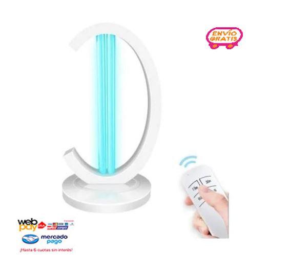 Lampara Uv Ozono Con Control Desinfectante 99.9%/sku Chile