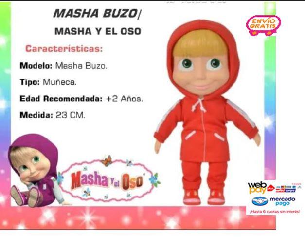 Muñeca Masha Y El Oso Cuerpo Blando