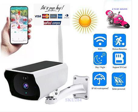 Cámara Exterior Solar Ip WiFi Seguridad 1080p Full HH