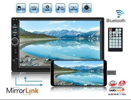 Radio Auto 2 Din Mirror Link Bluetooth Pantalla Video Touch!