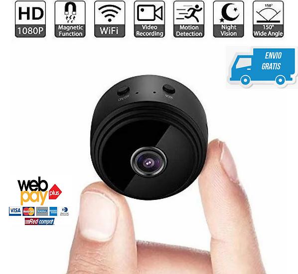 Mini Cámara WiFi Inalambrica Con Visión HD Nocturna Y Sensor