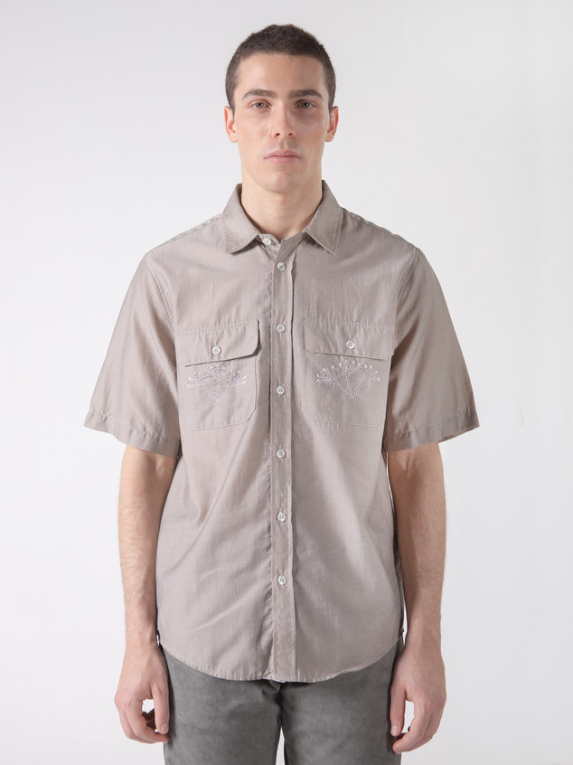 PLANT SHIRT BEIGE COTTON