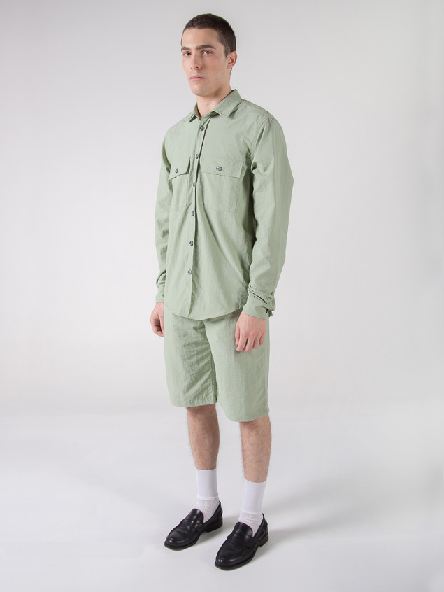 SAFARI SHIRT GREEN NYLON