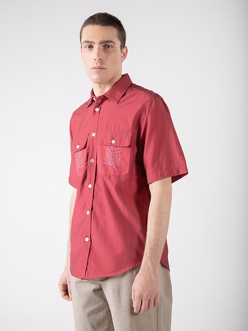 PLANT SHIRT RED COTTON