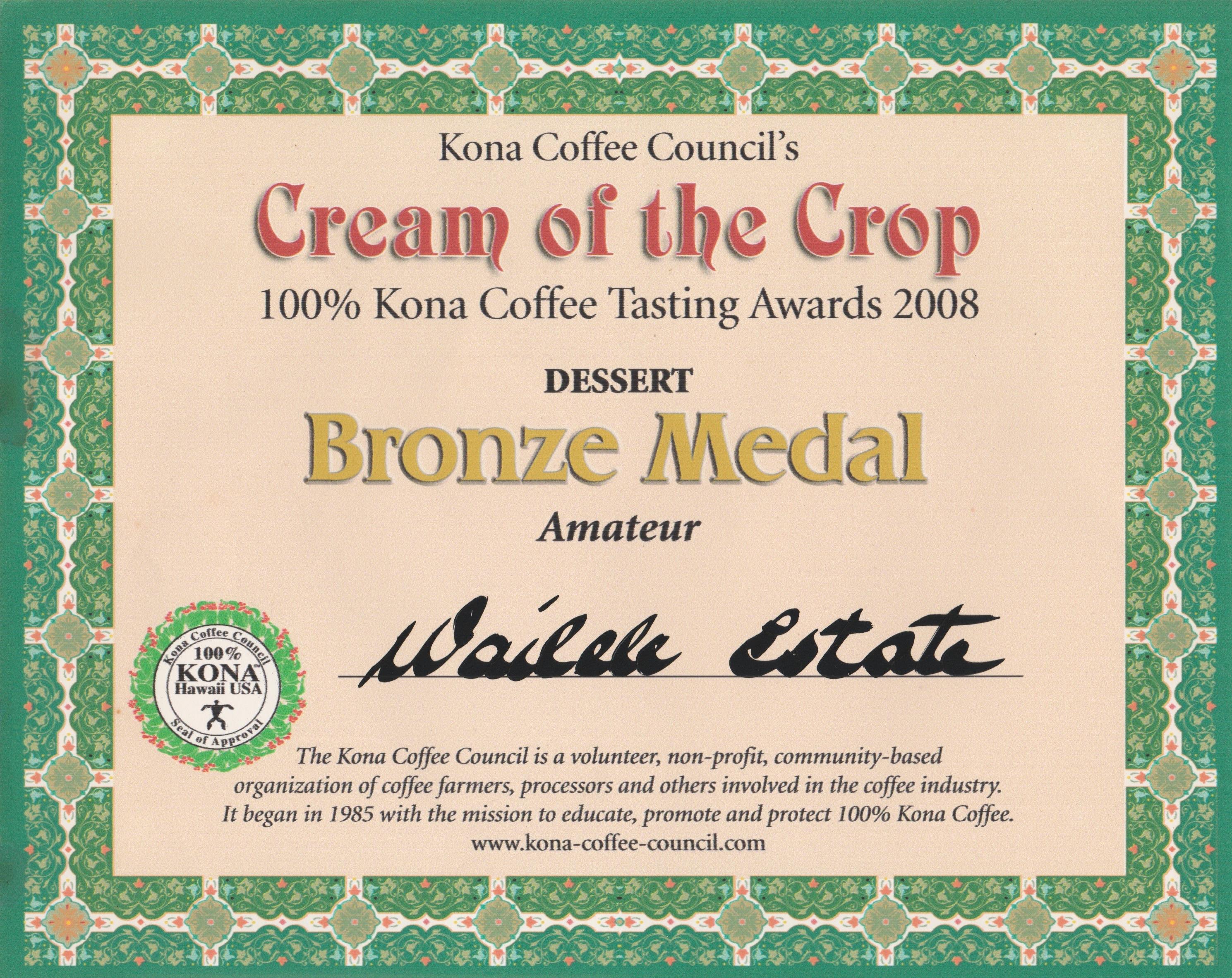 Cof C Bronze 2008