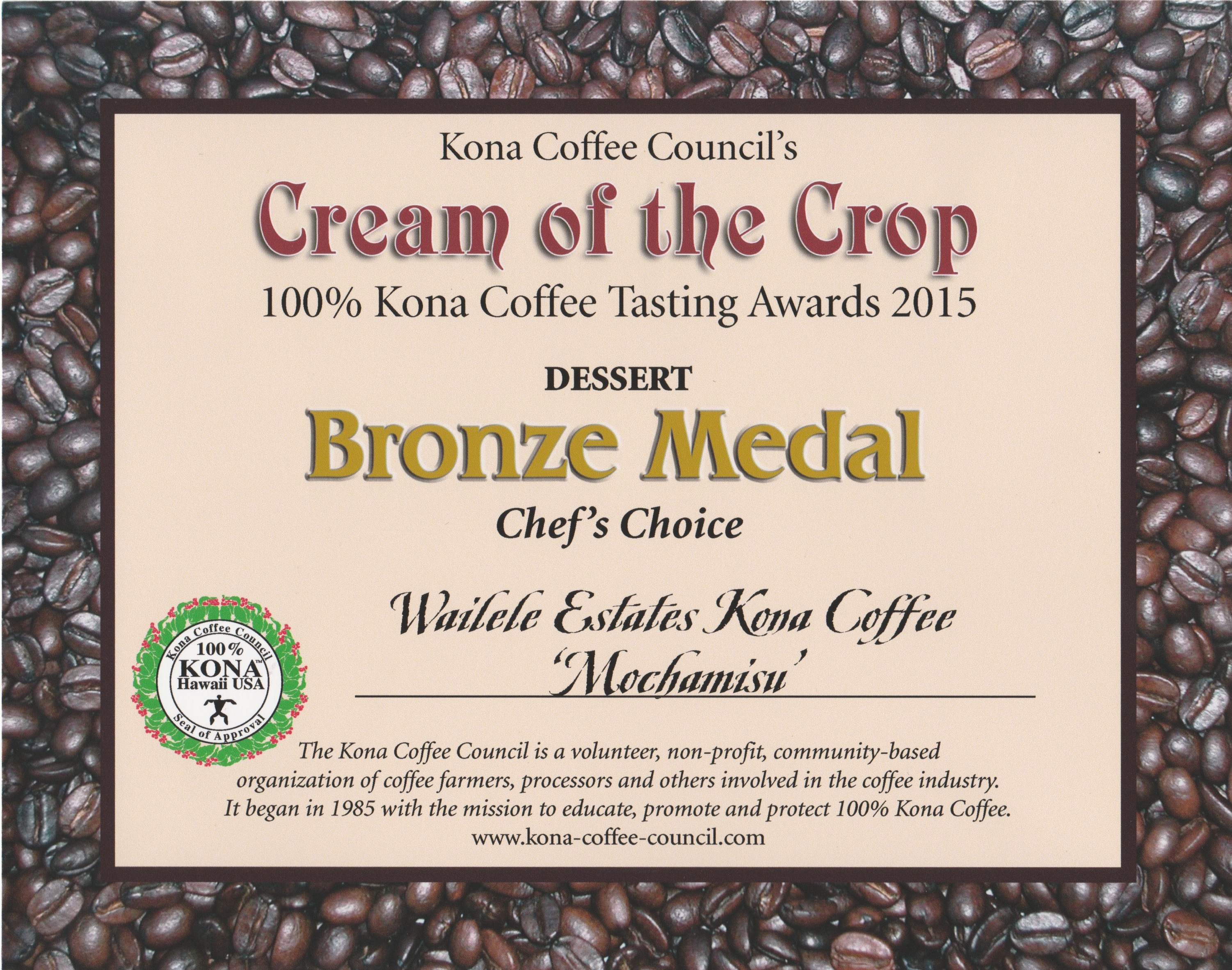 Cof C Bronze Dessert 2015