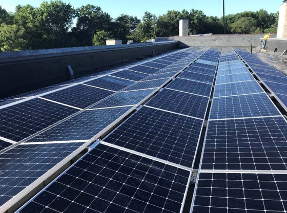 Sunny side up: Solar panels added to the roof