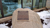 National Historic Landmark plaque added to the new buildings