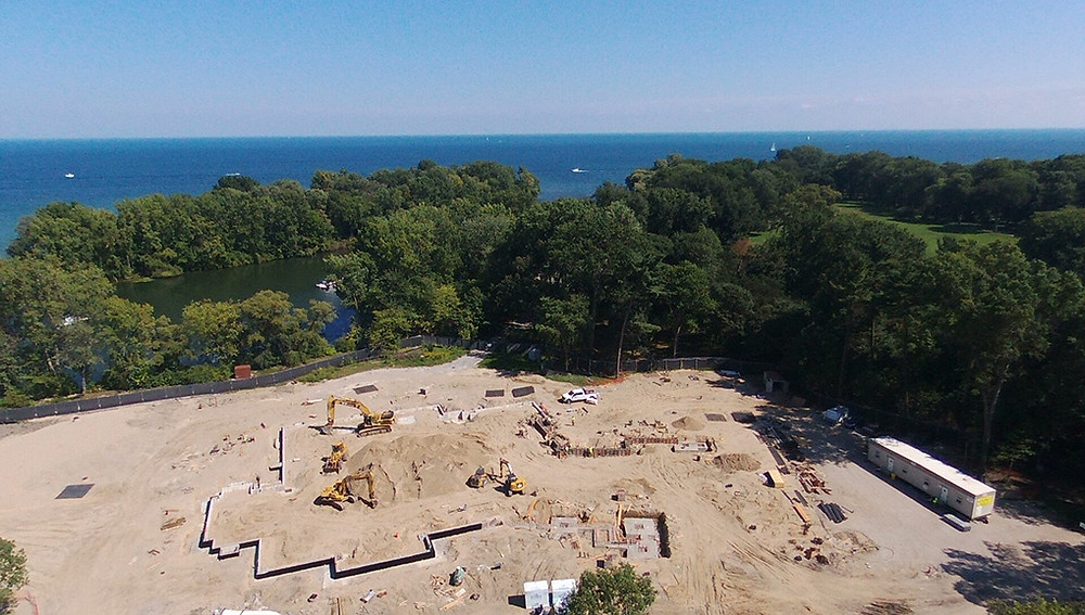 Overview of the construction site.