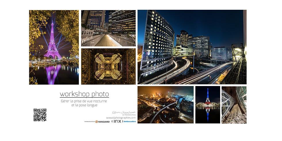 Atelier nocturne PARIS : Gérer la prise de vue nocturne et la pose longue en milieu urbain