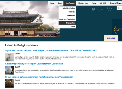 Get the Latest News on Religion Right Here on the GCRR Website!