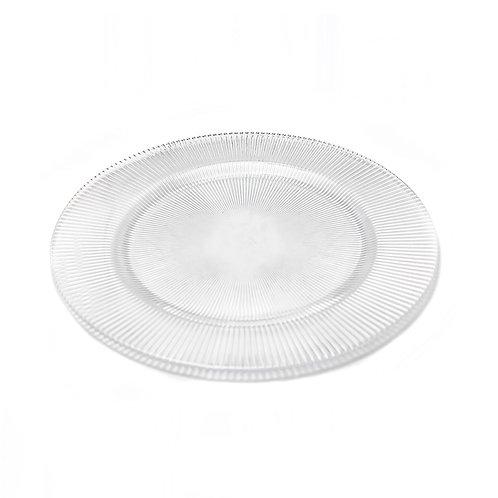 Porta platos - Transparente de rayas
