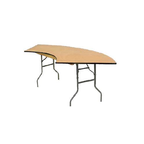 Mesa de madera -  Media Luna