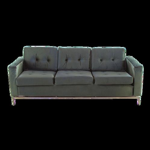 Sofá verde  de terciopelo