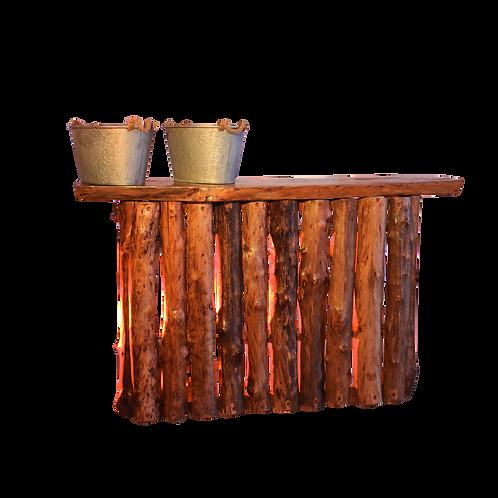 Mesa rústica alta  modelo tronco