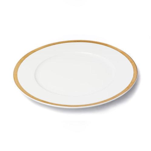 Porta platos - Blanco con Borde Dorado