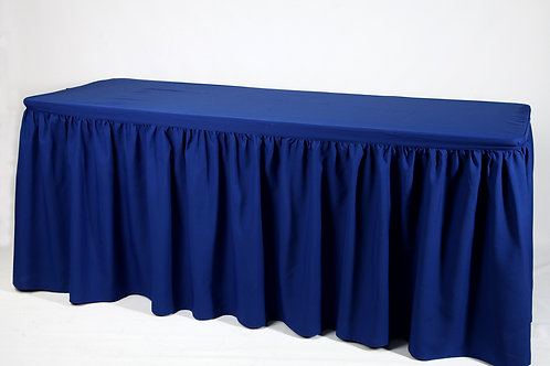 Mantel rectangular y rucha azul