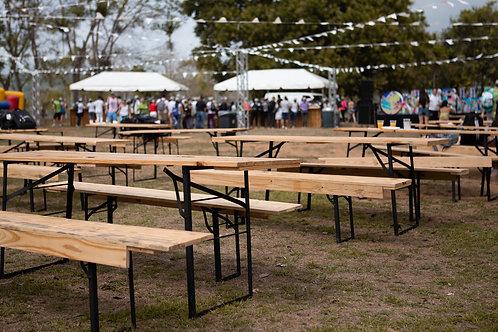 Mesa de picnic de madera