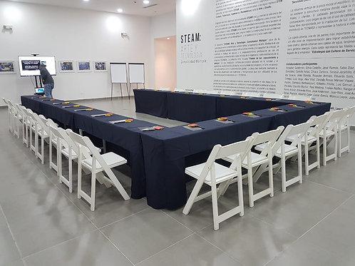 Mesa rectangular para seminarios