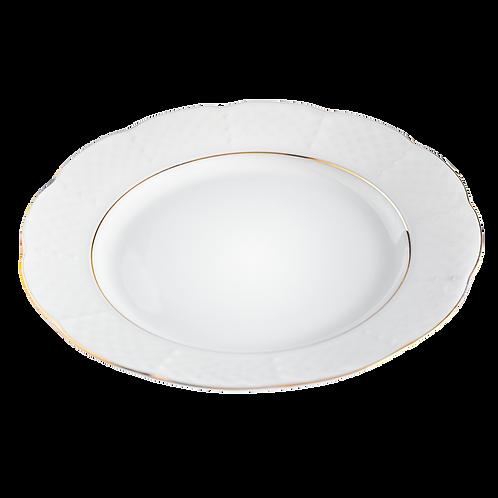 Plato fino de borde dorado - Disponible en 3 tamaños