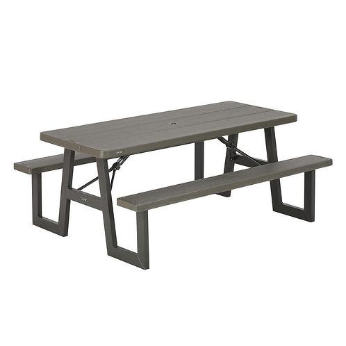Mesa de picnic con bancas plegable