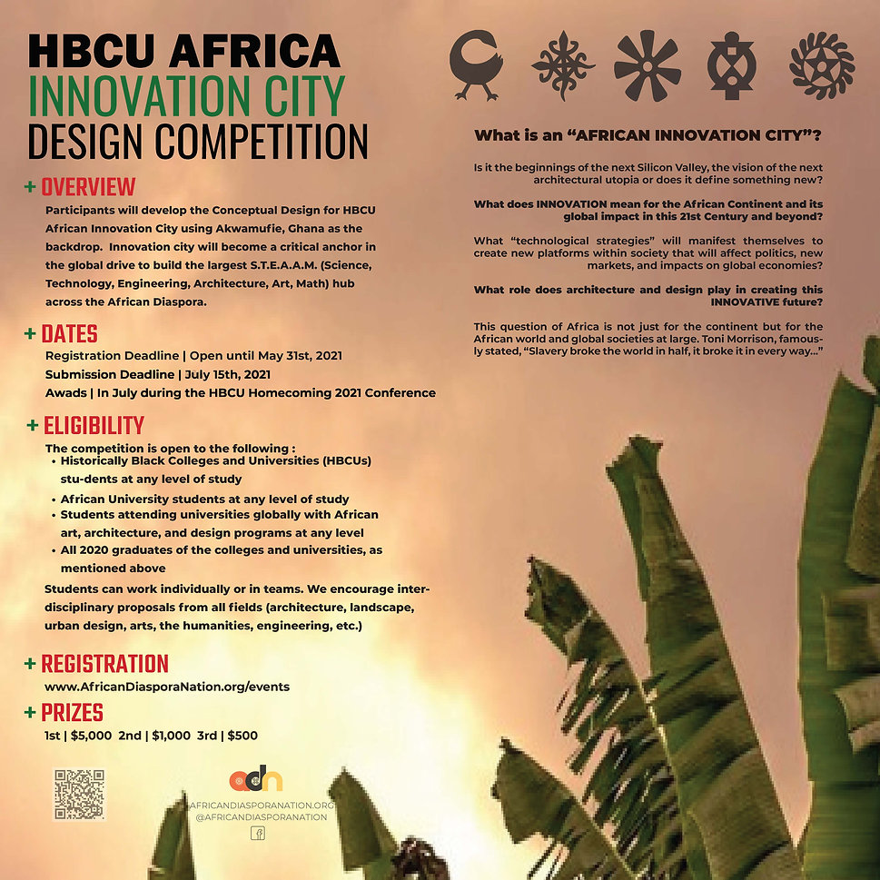 Poster HBCU AFRICA INNOVATION CITY 2021