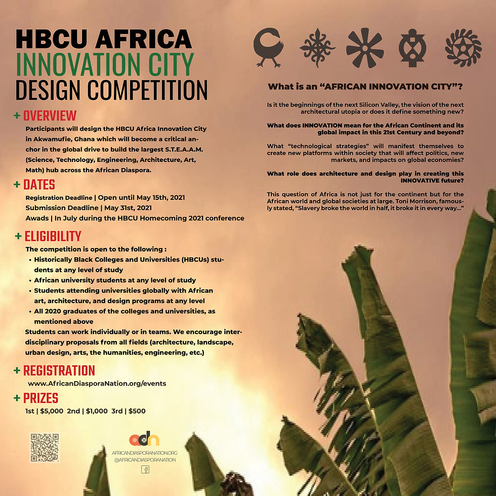 2021 HBCU AFRICA INNOVATION CITY Poster.