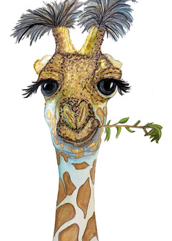 Giraffe with a Stick