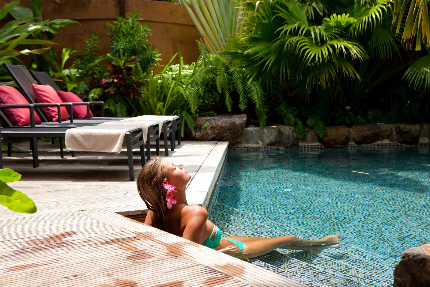 Private Pool Villa Pool Deck and Woman.jpg