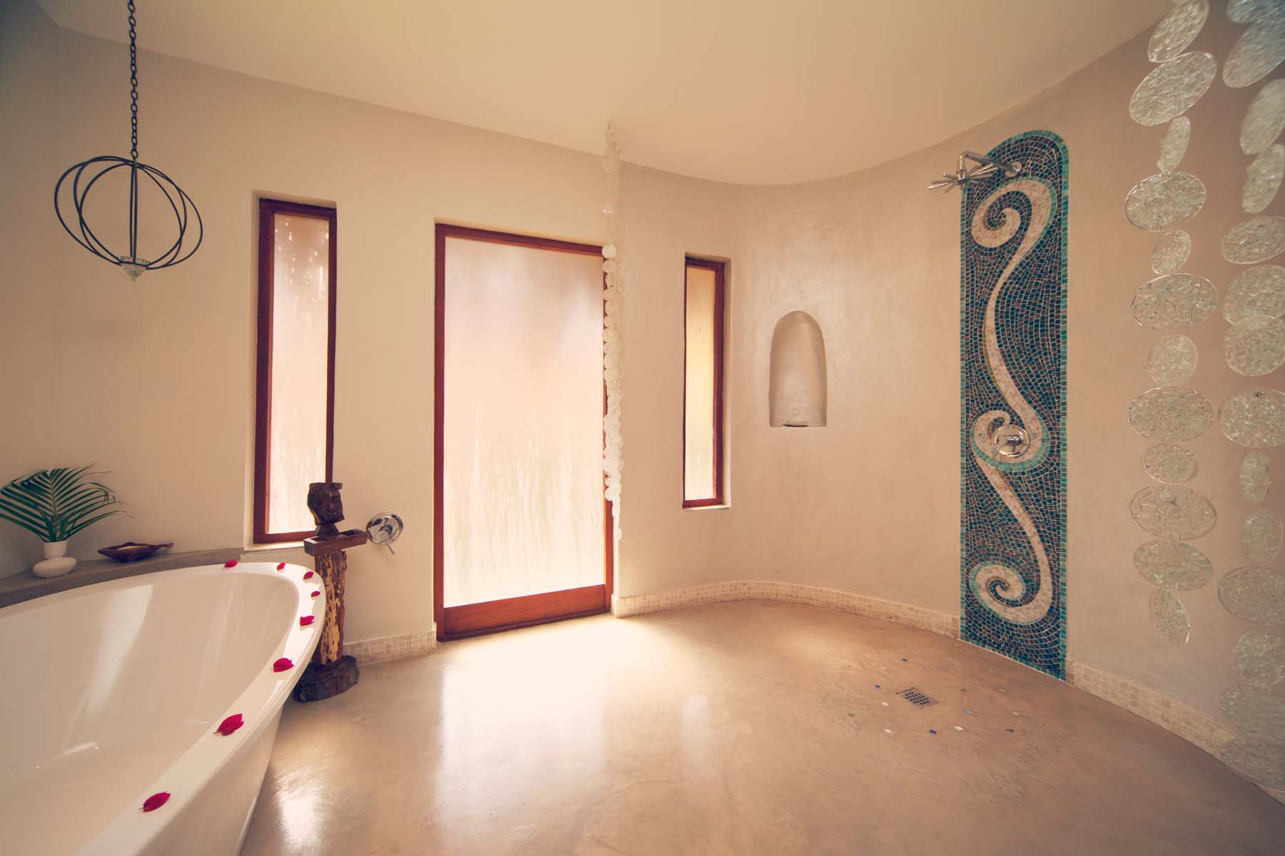 Azura Benguerra Infinity Beach Villa bathroom with bad