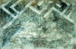 dentro del laberinto. 200x150 cm