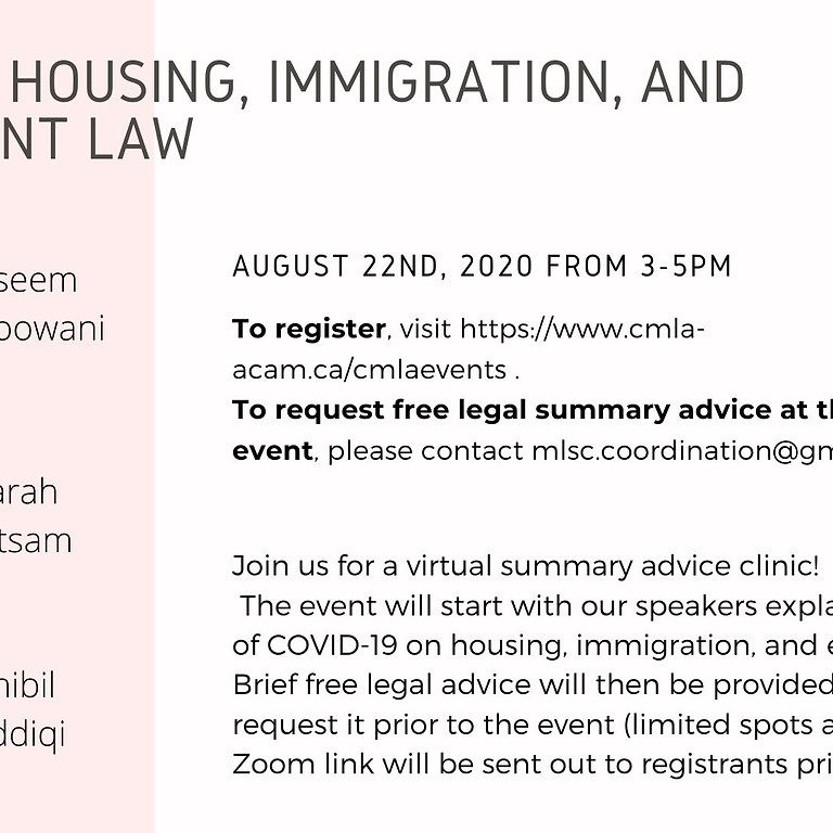 COVID and Housing, Immigration, and Employment Law
