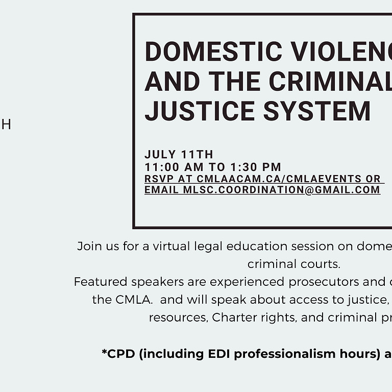 Domestic Violence and the Criminal Justice System