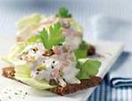 Fancy Meat Salad on Whole Rye