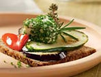 Fitness Bread with Chive Cream Cheese and Veggies