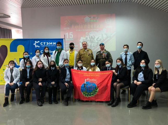"""Урок мужества ветеранов """"БОЕВОГО БРАТСТВА"""" Саяногорска со студентами"""