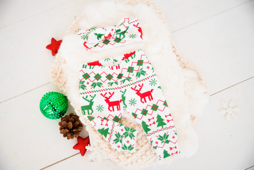 dbe768627 Christmas Organic Cotton Fair Isle Ugly Sweater Tree Set