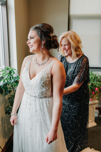 Mother & Daughter on Wedding Day