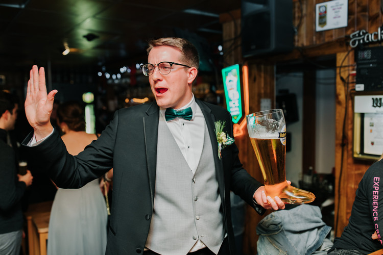 Groom Drinking Boot After Ceremony