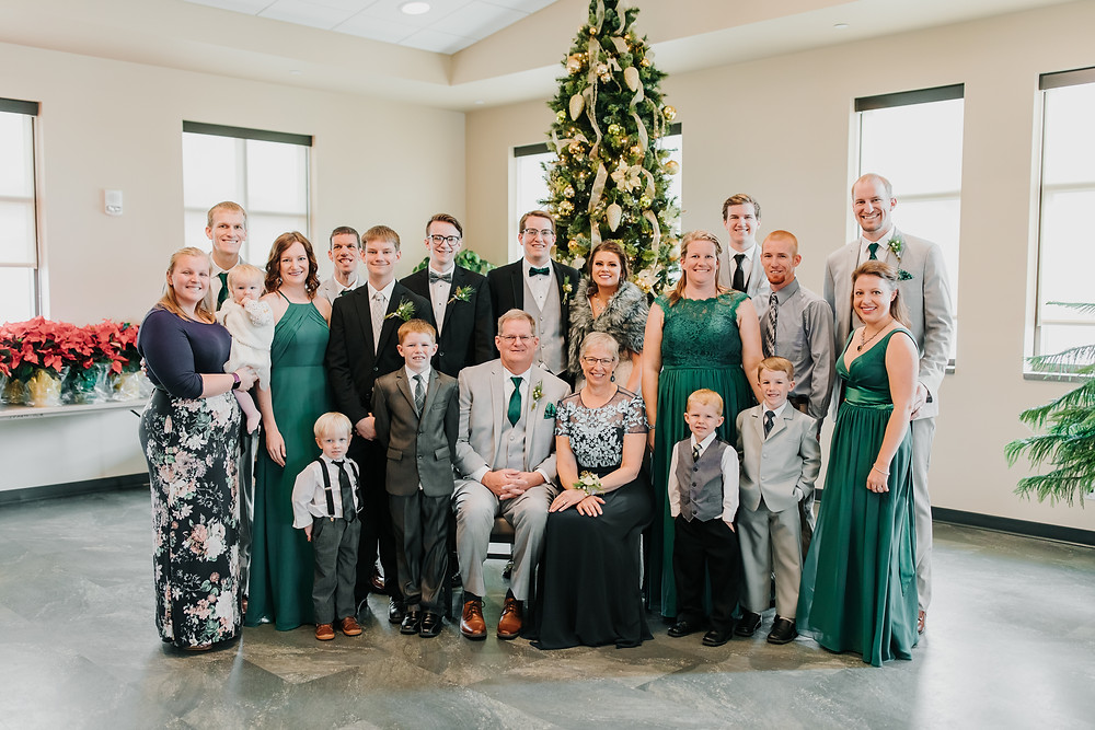 The Gibbs Family On Wedding Day