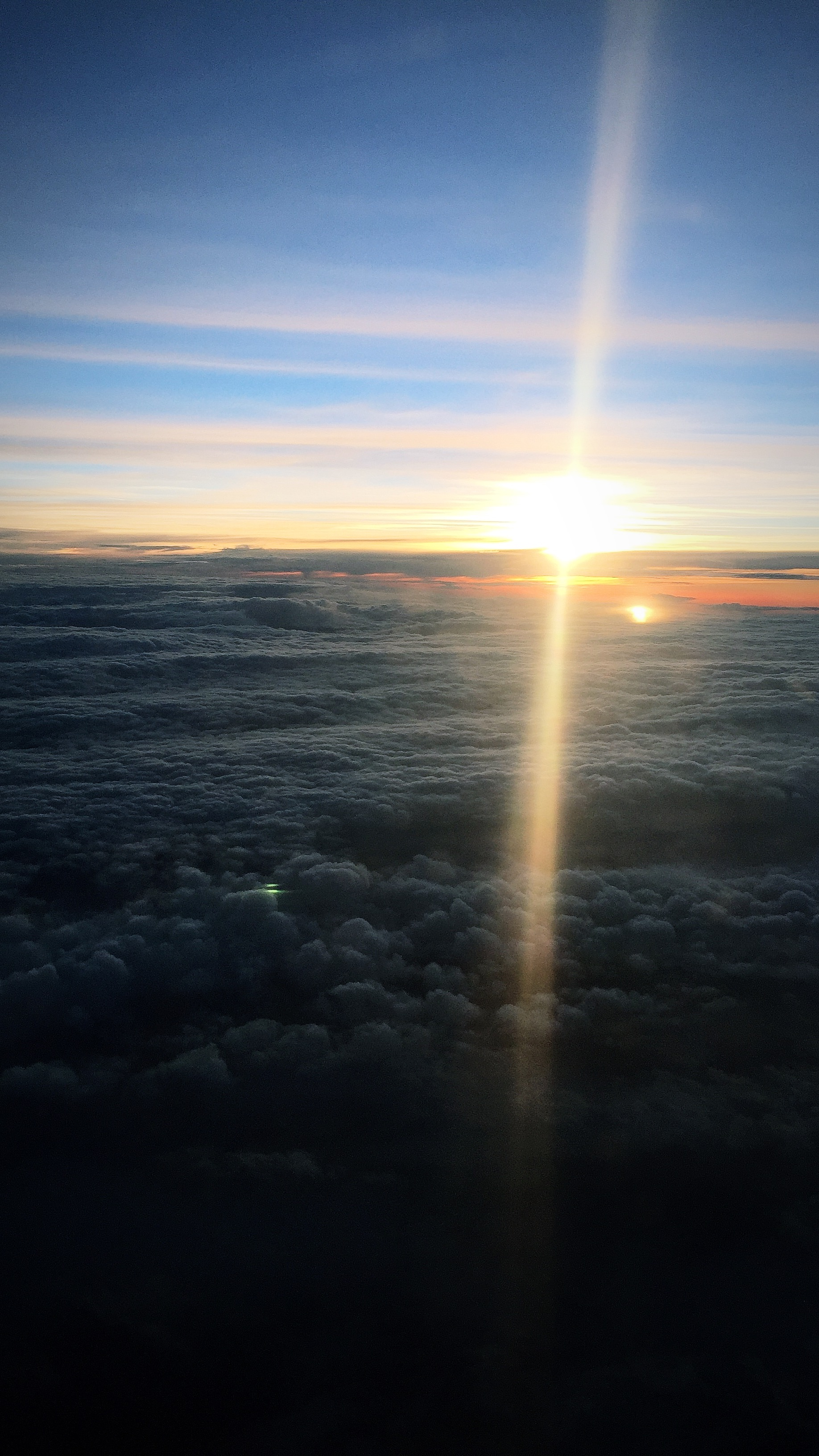 Flying into Ireland Above the Clouds