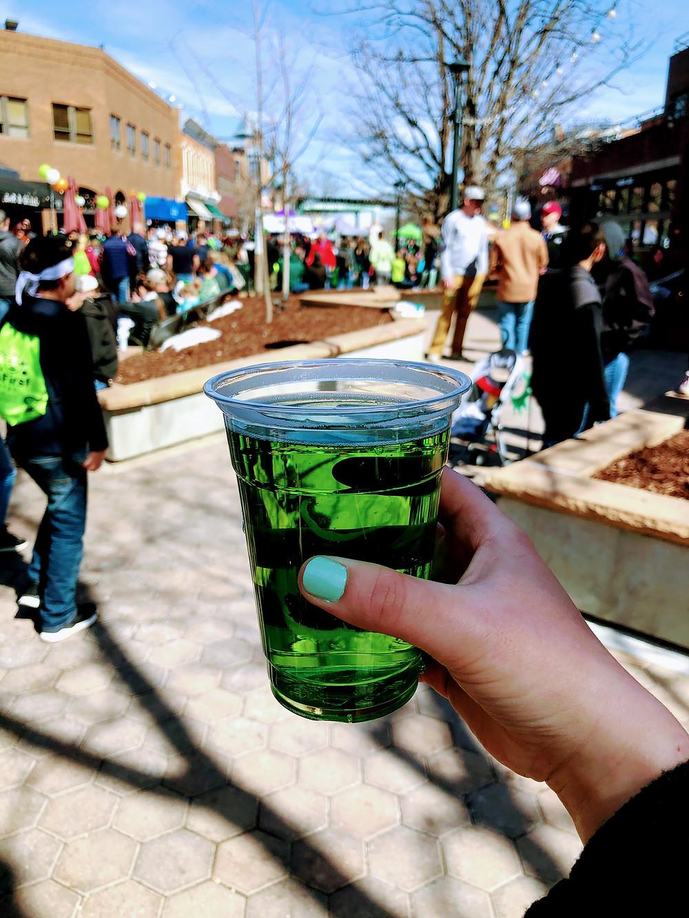 Green Beer in Fort Collins, Colorado