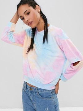 Tie Dye Sweatshirt From Zaful