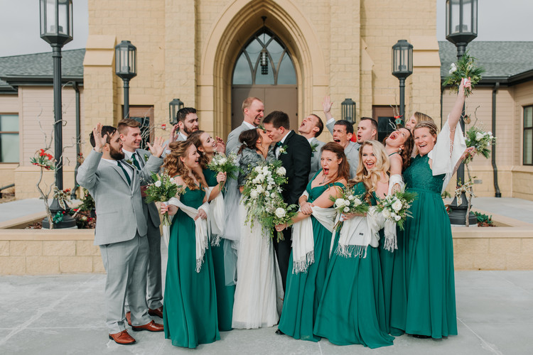 Excited Bridal Party