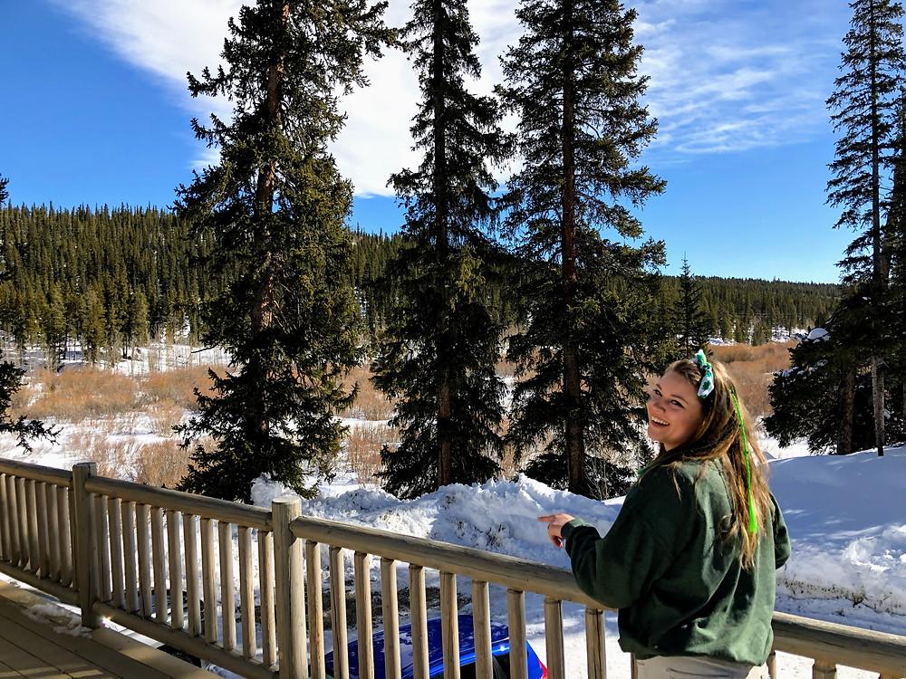Jen Gibbs in Colorado on Saint Patrick's Day