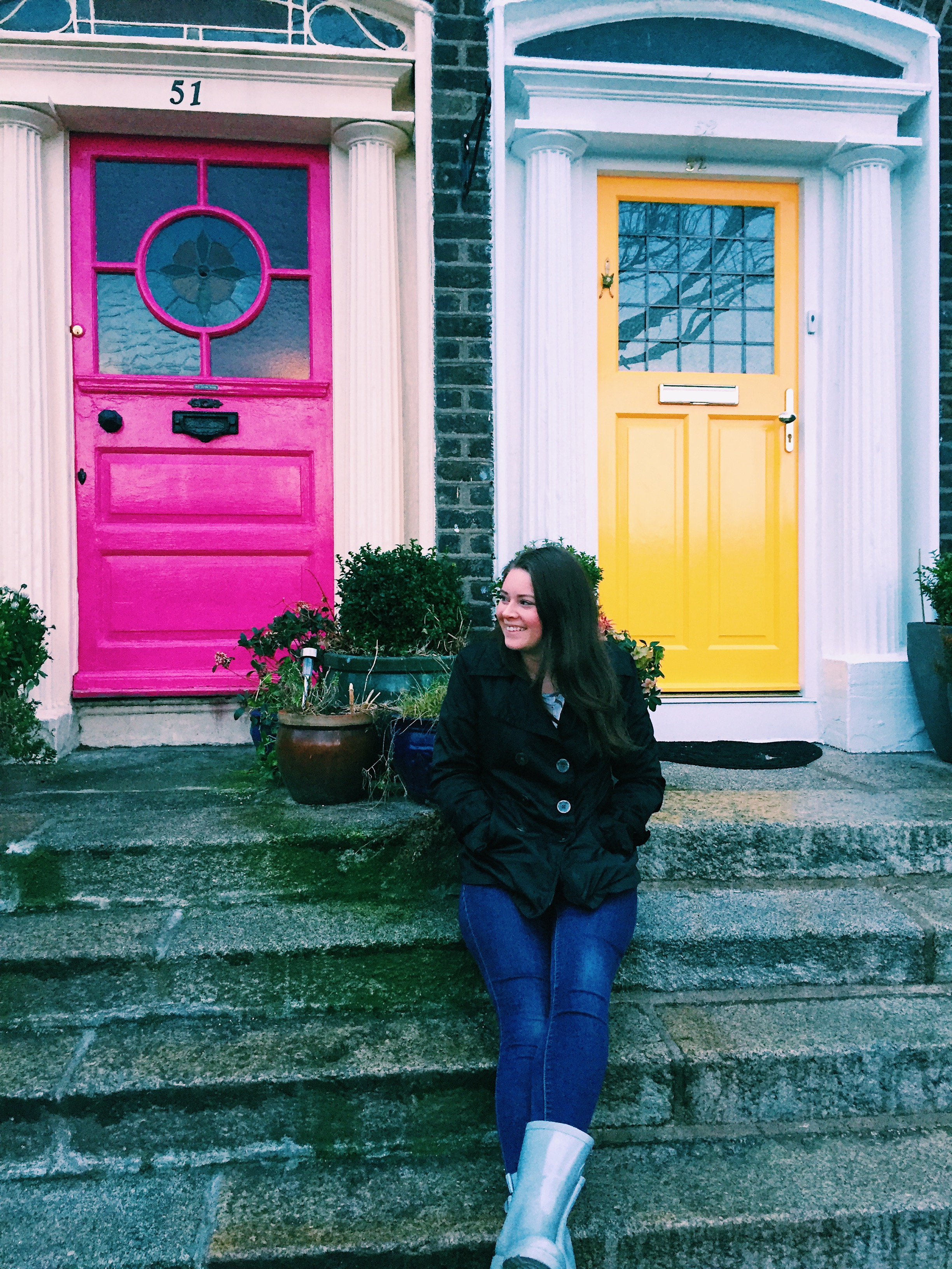 Pretty Painted Doors in Dublin