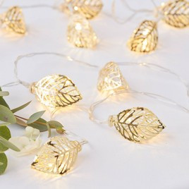 Gold String Leaf Lights From Target