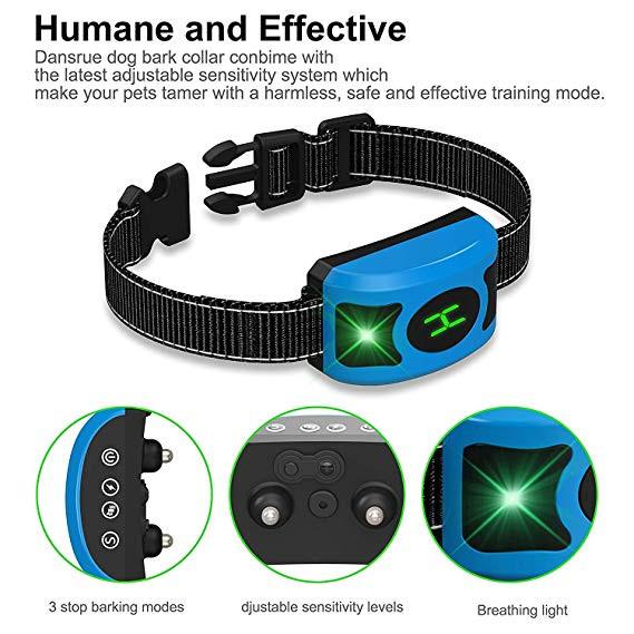 Blue Bark Collar for Dog Training
